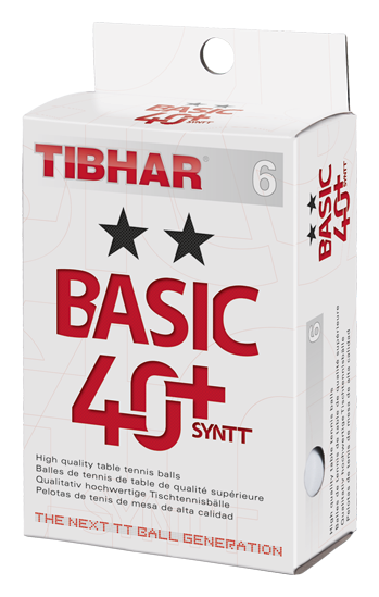 Tibhar ** Trainingsball Basic 40+Syntt 6er weiss