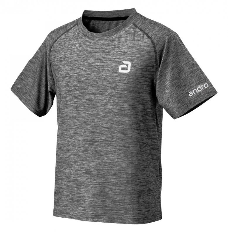 andro T-Shirt melange alpha grau
