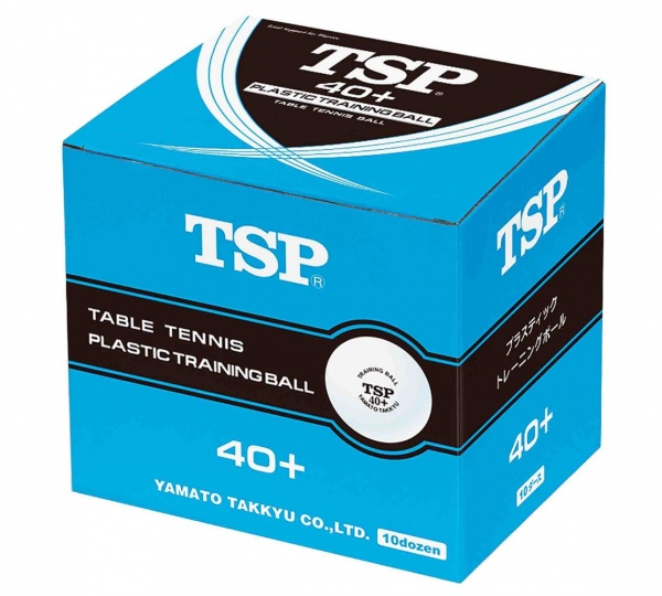TSP Trainingsball 40+ 120er-Pack weiss