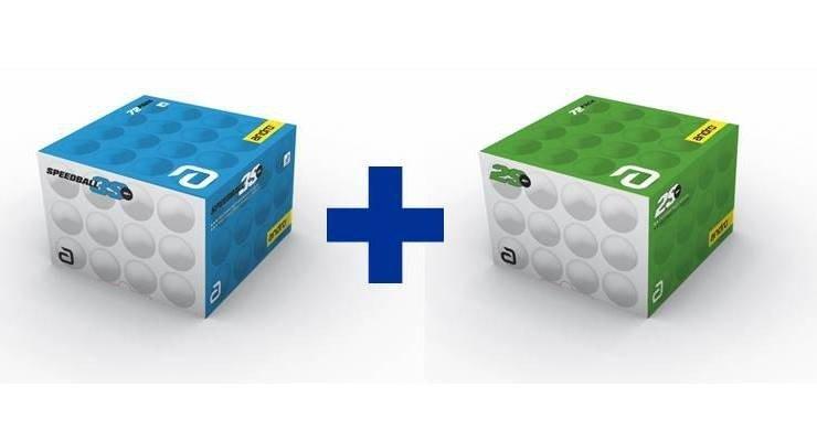 andro Kombi Speedball 3S + Poly 2S 2x72er weiß