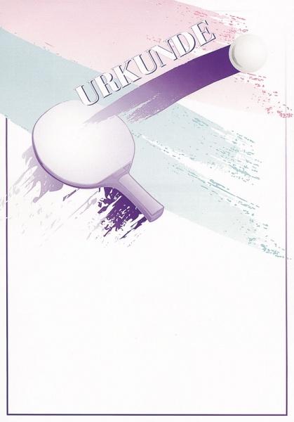 Urkunde Schläger/violett