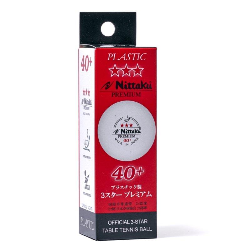 Nittaku Premium 40+ Japan 3er 12er weiß