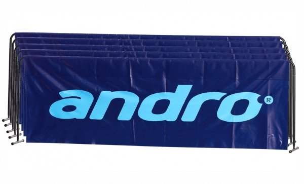 andro Umrandung Basic 5er-Paket 2,33m x 70cm blau