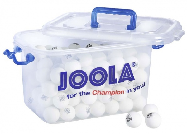Joola Trainingsball Magic 144er-Balleimer weiss