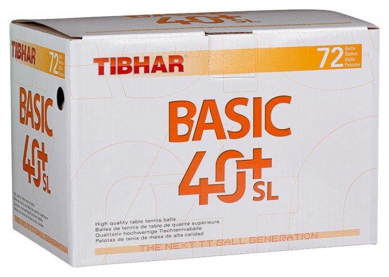 Tibhar Basic 40+ SL 72er weiß