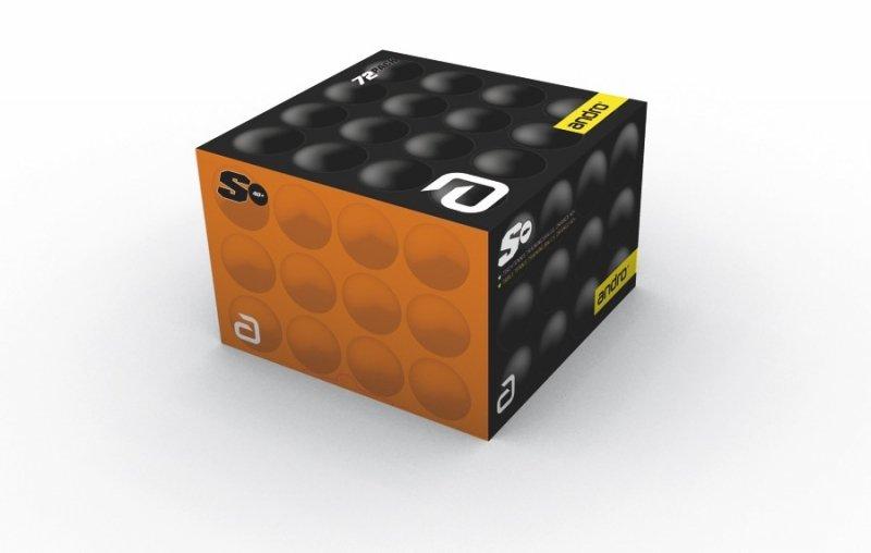 andro Trainingsball Poly S 40+ 72er orange