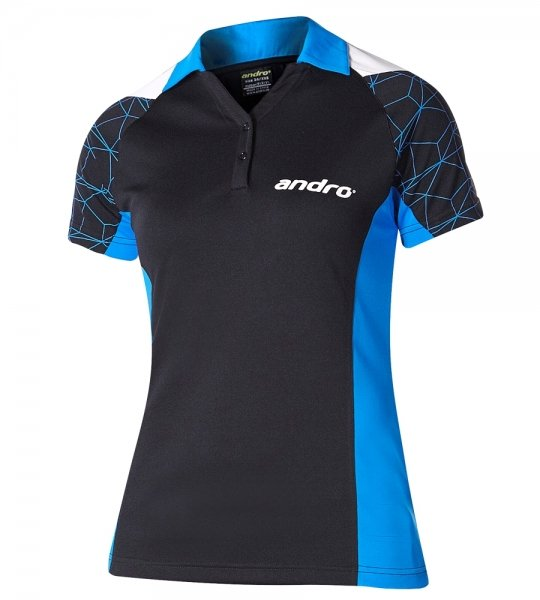 andro Trikot Leon Women schwarz/blau