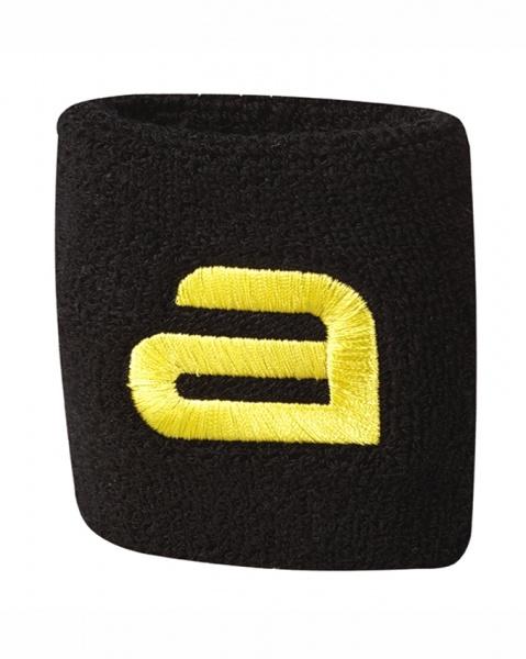 andro Schweissband New-Alpha schwarz/gelb