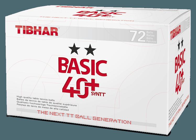 Tibhar Basic 40+ Syntt 72er weiß