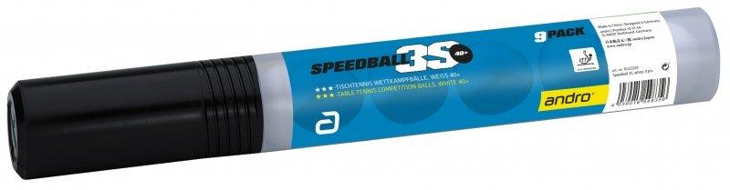andro Speedball 3S 40+ 9er weiß