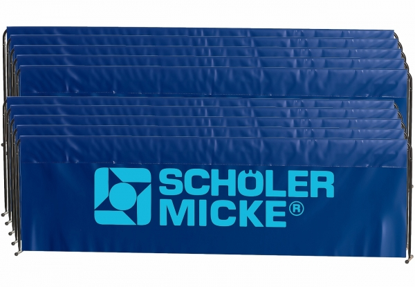 S&M Umrandung Basic 10er-Paket 2,33m x 70cm blau