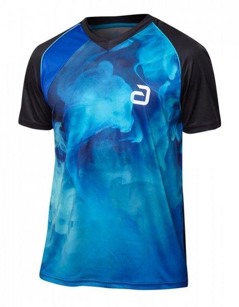 andro T-Shirt Kane schwarz/blau