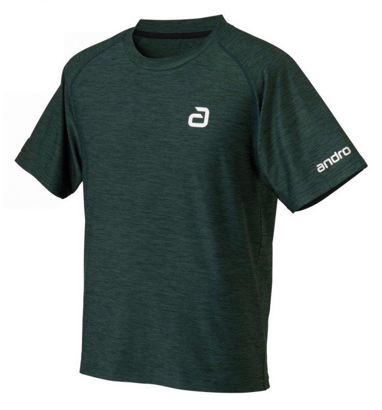 andro T-Shirt melange alpha grün