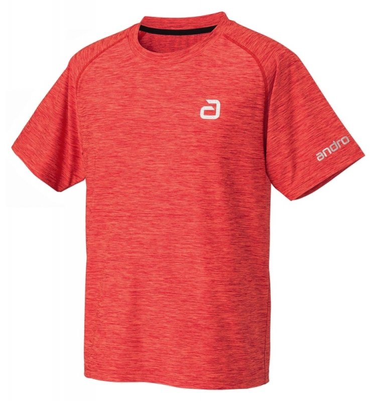 andro T-Shirt melange alpha red/fire