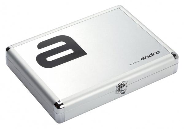 andro Alu Case Alpha - silber