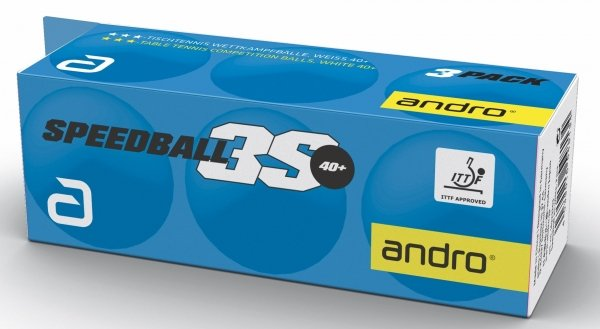 andro *** Speedball 3S cellfree 3er-Pack weiss