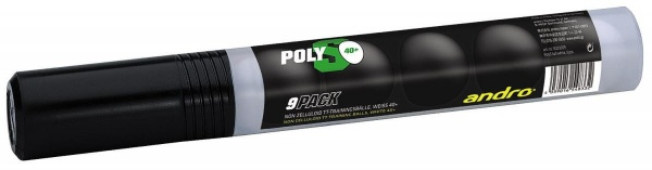 andro Poly S Training * 40+ cellfree 9er-Röhre weiss