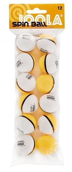 Joola Spinball 12er-Pack weiss-orange
