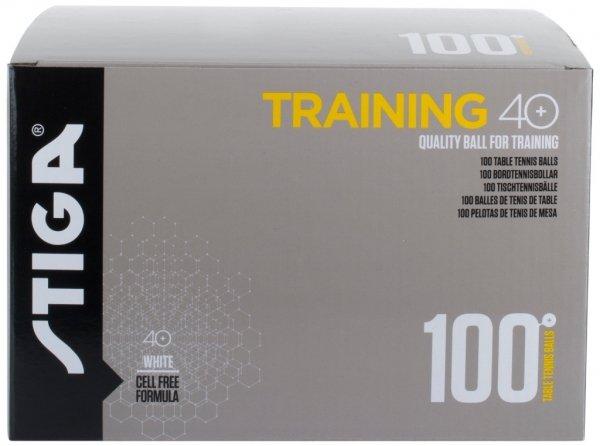 Stiga Ball Training ABS Poly 100er-Pack weiß
