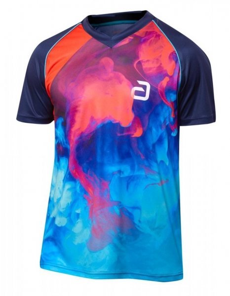 andro T-Shirt Kane dunkelblau/rot