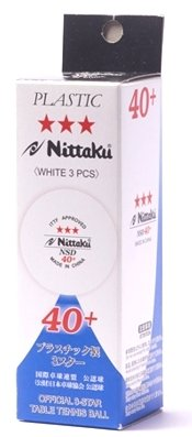 Nittaku SD 40+ 3er weiß