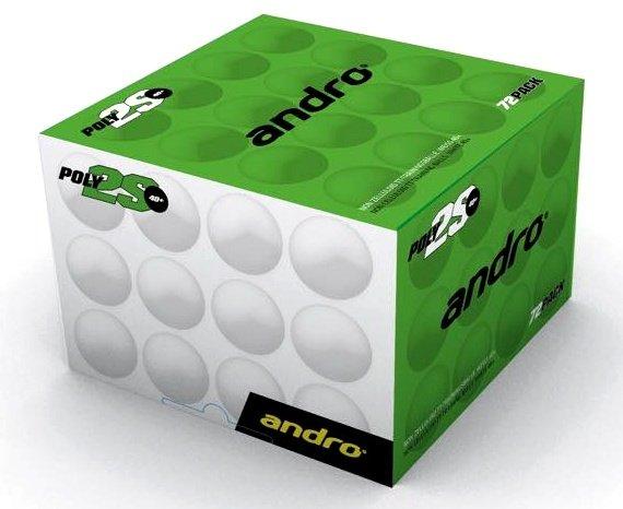 andro Trainingsball Poly 2S 40+ 72er weiß