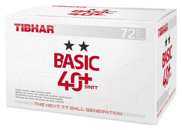 Tibhar ** Trainingsball Basic 40+Syntt 72er weiss