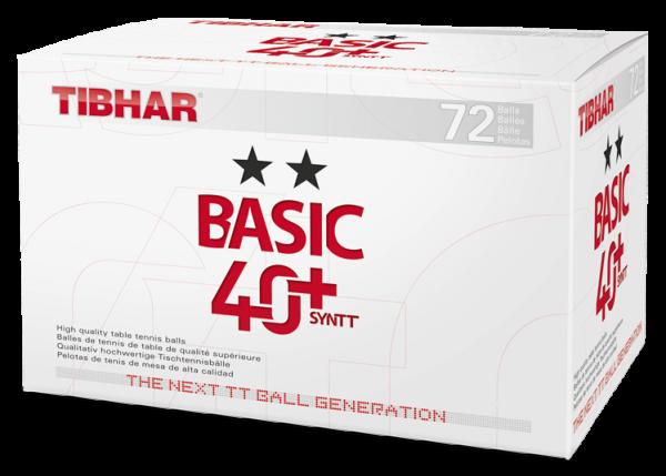 Tibhar ** Trainingsball Basic 40+Syntt 72er weiss