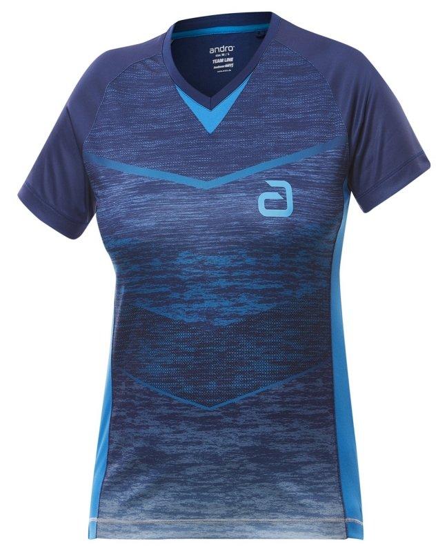 blaues andro Minto Women Shirt Vorderseite
