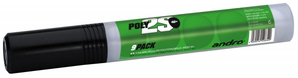 andro Poly 2S Training ** 40+ 9er-Röhre weiss cellfree