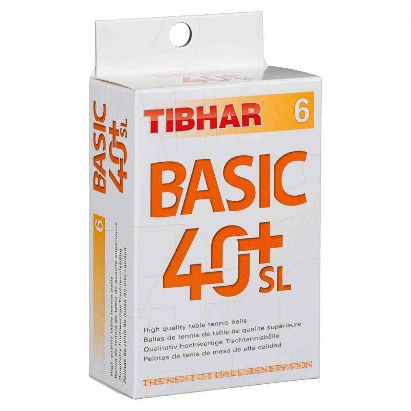 Tibhar Basic 40+ SL 6er weiß